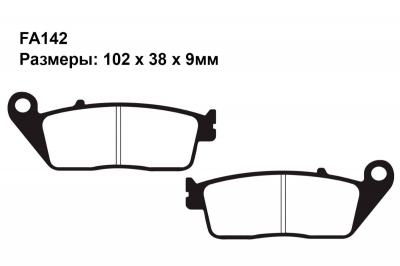 Комплект тормозных колодок FA142|FA142|FA196 на BMW C 600 Evolution Scooter 2014-2020