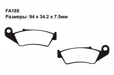 Тормозные колодки FA185 на APRILIA RXV 450/550 Enduro 2006-2013 передние
