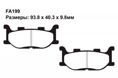 Тормозные колодки FA199 на ADIVA SCOOTERS AR 200 2010-2011 задние