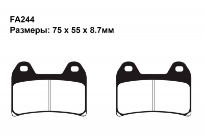 Тормозные колодки FA244 на APRILIA Tuono V4R 2011-2012 передние