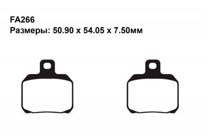 Комплект тормозных колодок FA322|FA322|FA266 на BENELLI Cafe 899 Racer 2010-2012