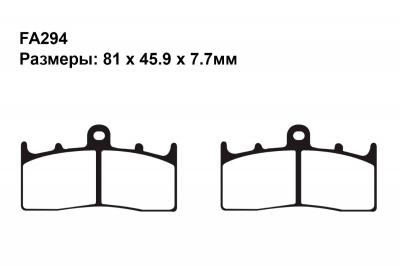Тормозные колодки FA294 на BMW R 850 R  2004-2006 передние
