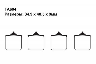 Тормозные колодки FA604 на BMW S 1000 R Naked (K47) 2014-2018 передние